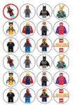 24 x Lego Super Heroes Wafer Paper Cup Cake Tops Superhero's Hero